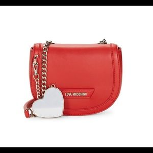 Love Moschino Red Crossbody Bag Faux Leather Purse